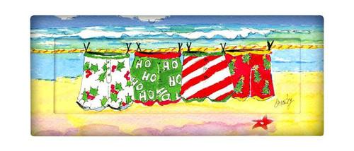 Coastal Holiday Christmas Beach Swim Trunks Tray