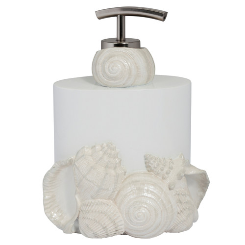 Elegant Natural Beauty Seaside Shells Resin Bathroom Lotion Soap Pump