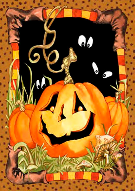 Bewitching Halloween Jack Pumpkin Standard Flag SF 40 Inches