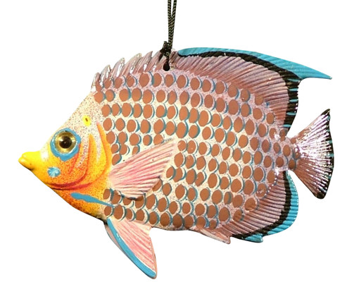 Carribean Sea Hanging 3D Tiki Tropical Decor Fish 6 Inches ORN12