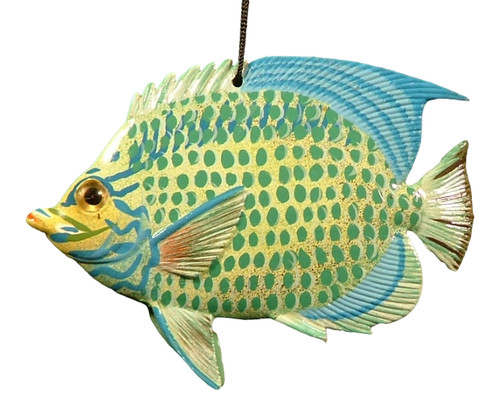 Carribean Sea Tiki Tropical Parrot Fish Ornament TFO24 4 Inch