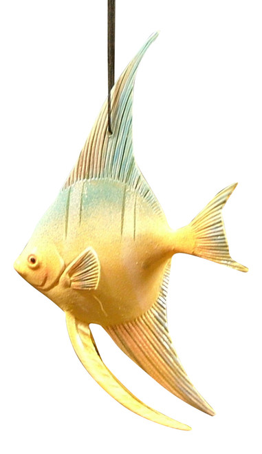 Carribean Reef  Tiki Tropical Angel Fish Ornament  6 INCH ORN30