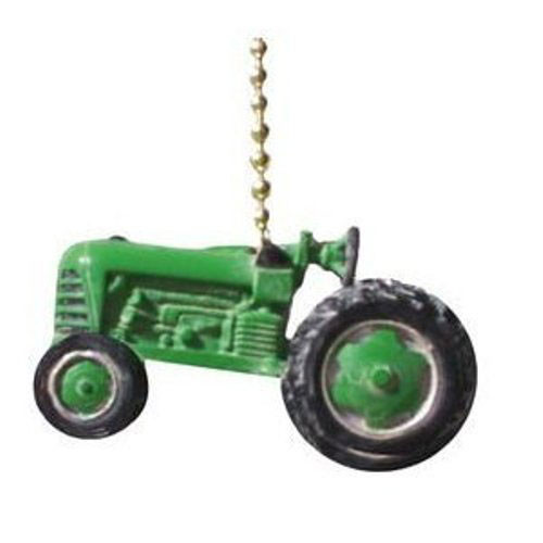 Farm Tractor Lamp : Green agricultural farm tractor ceiling fan light pull