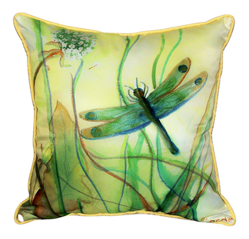 Tropical Dragonfly Pillow Indoor Outdoor Fabric Pillow 18
