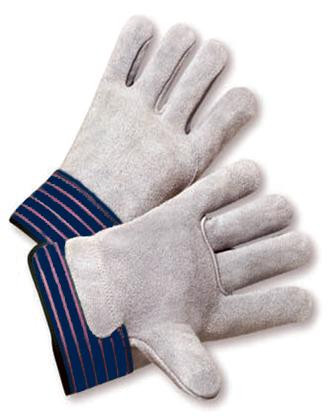 Full Leather Back Cowhide Work Gloves  ## 540 ##