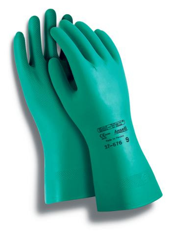 Ansell® Sol-vex® Premium Chemical Resistant Gloves  ## 37-155 ##