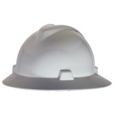 V-Gard® Full Brim Hard Hats - White  ## MSA475369 ##