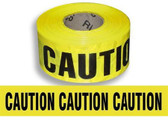 "Hi-Vis Yellow ""Caution"" Barricade Tape - 2mil - 3"" x 1000ft.  ## CT100 ##"