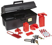 NORTH® Lockout / Tagout Tool Box Kit ##LK107FE ##