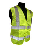 Hi-vis Breathable Mesh Class 2 Safety Vests - Zippered Front  ##VEST 13 ##