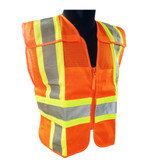 Class 2 Orange Hi-Vis Safety Vests  ## VEST 45 ##