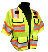 Heavy Duty Hi-Vis Class 3 Surveyor Safety Vests ##VEST 35 ##
