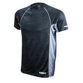 DEWALT Non-Rated Two Tone Performance Short-Sleeved Black T-Shirt  ## DST11-NPBB ##
