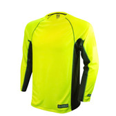 DEWALT Non-Rated Two Tone Performance Long-Sleeved Hi-Vis Green T-Shirt  ## DST21-NPGB ##