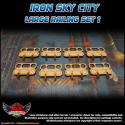 Iron Sky City Large Railing Set A