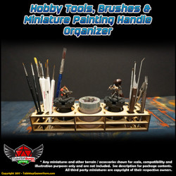 TTG Modular Hobby Tools, Brushes & Miniature Painting Handle Organizer