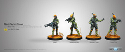 Infinity Druze Shock Teams - Mercenaries