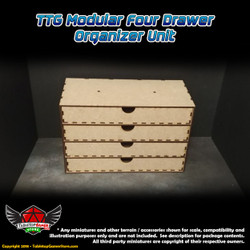 TTG Modular 4 Drawer Organizer Unit