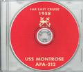 USS Montrose APA 212 1958 Westpac Cruise Book on CD