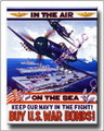 Buy US War Bonds Vintage Navy WWII Canvas Print 2D