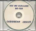 USS McClelland DE 750 1953 Carribean Cruise Book CD