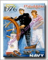 Vintage Philadelphia Navy 1776 - 1976 Canvas Print 2D