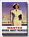 Wanted More Navy Nurses Vintage WWII Canvas Print 2D