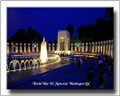 WWII DC Memorial Personalized WWII Canvas Print 2D