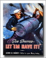 US Navy WWII Canvas Poster Print Sub Let Em Have It 2D