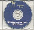 USS Bausell DD 845 CRUISE BOOK Log Korea 1951 CD