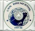 USS Bremerton CA 130 CRUISE BOOK Log 1957 1958 CD