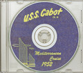 USS Cabot CVL 28 1952 Med Cruise Book on CD RARE