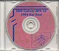 USS Calvert APA 32 1954 Far East Cruise Book on CD