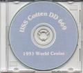 USS Cotten DD 669 World CRUISE BOOK Log 1953 CD