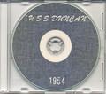 USS Duncan DDR 874 1954 Westpac Cruise Book CD
