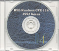 USS Rendova CVE 114 Korea CRUISE BOOK Log 1952 CD