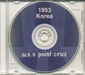 USS Point Cruz CVE 119 CRUISE BOOK Log Korea 1953 CD