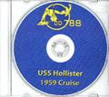 USS Hollister DD 788 1958 - 1959 CRUISE BOOK Log CD