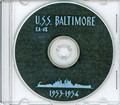 USS Baltimore CA 68 1953 1954 Med and North Atlantic Flagship Cruise Book CD
