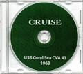 USS Coral Sea CVA 43 Western Pacific CRUISE BOOK Log 1963 Crew Photos CD