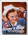 US Military Become a Nurse WWII  Canvas Print 2D