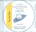 USS Anchorage LSD 36 Commissioning Program on CD 1969 Plank Owner