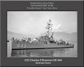 USS Charles E Brannon DE 446 Personal Ship Canvas Print Photo US Navy Veteran Gift