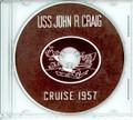 USS John R Craig DD 885 DD 885 1957 CRUISE BOOK CD
