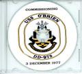 USS O'Brien DD 975 Commissioning Program on CD 1977