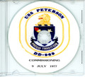 USS Peterson DD 696 Commissioning Program on CD 1977