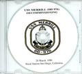 USS Merrill DD 976 Decommissioning Program on CD 1998