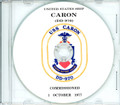 USS Caron DD 970 Commissioning Program on CD 1977