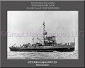 USS Admirable AM 136 Personalized Ship Canvas Print
