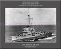 USS Ahrens DE 575 Personalized Ship Canvas Print